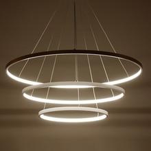 AC85-265V Circle Pendant Chandelier Lighting For Dining Kitchen Room Rings Aluminum Hanging lustre de plafond moderne