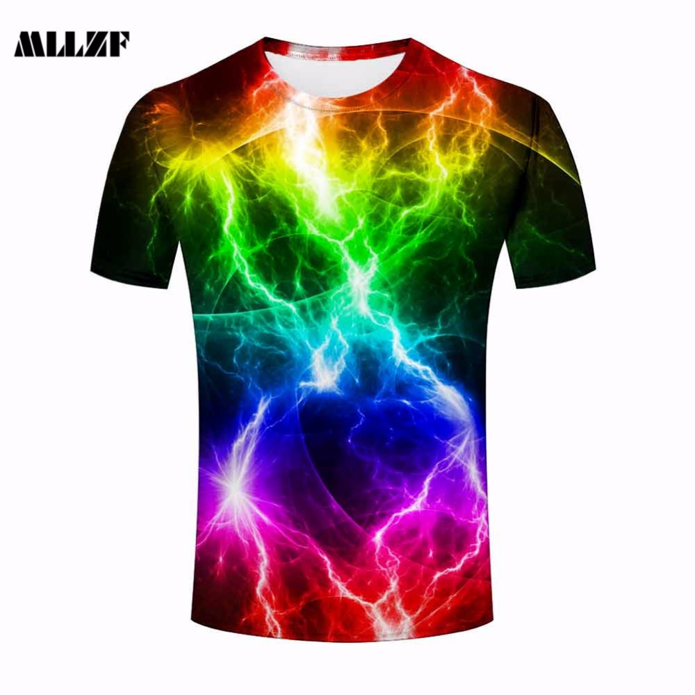 Free t-shirt design - Summer Tops Tees Men T Shirt Amazing Print Lightning 3d T Shirt Casual Short Sleeve Tshirts S 3xl Free Shipping