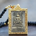 Thailand Buddha gold plated buddha pendant necklace for women men