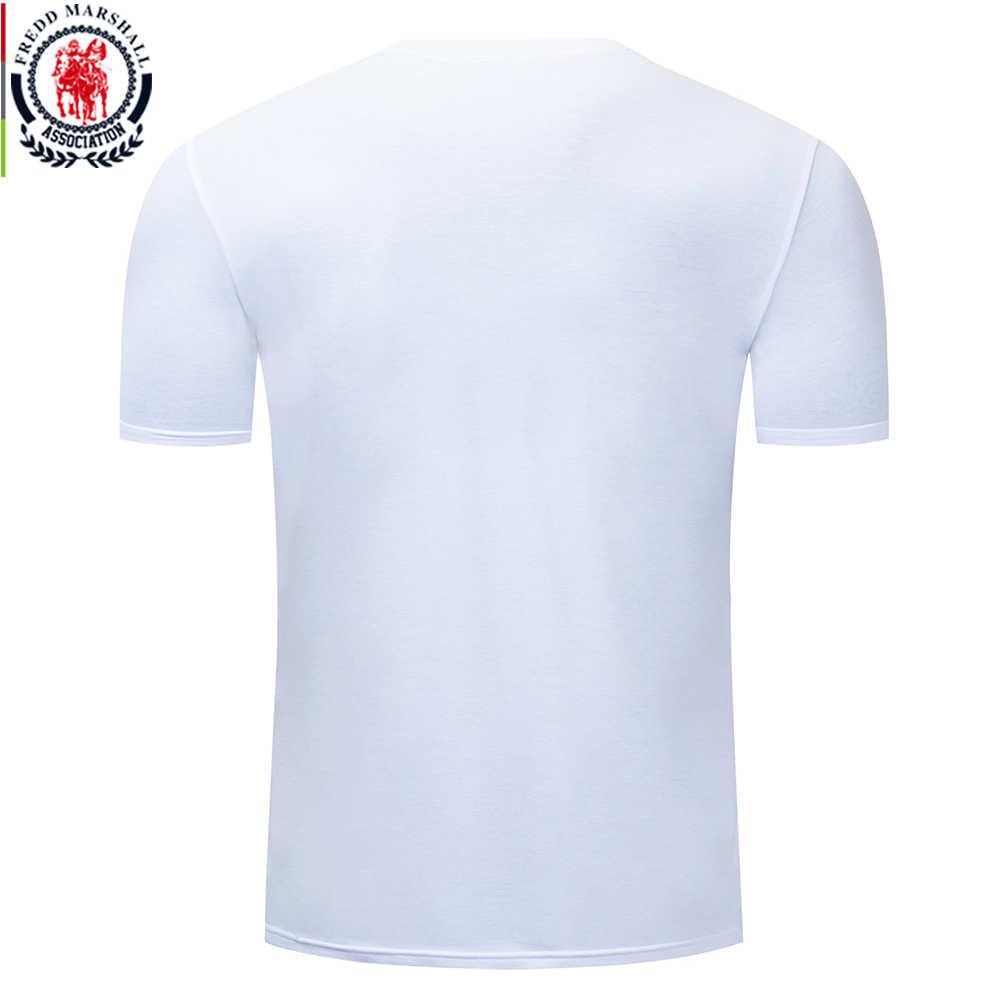 Fredd マーシャル 2019 ファッション日没プリント Tシャツオムカジュアルクール Tシャツ男性綿 100% O ネック Tシャツ半袖 tシャツ 345