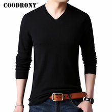 COODRONY Cashmere Sweater Men Clothes 2018 Autumn Winter Thick Warm 100% Merino Wool Sweaters Plus Size V Neck Pullover Men 8307