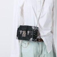 Vintage Crocodile Handbags Clutch Retro Women Messenger Bags Alligator Box Bag Chain Crossbody Shoulder Bags Small