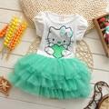 Hello Kitty Niñas Vestidos de Verano 2016 de Dibujos Animados Alas Vestido Tutu Para Niñas Niños Vestidos de Princesa Girls Ropa Enfant Bata de Tela