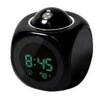 1pcs Alarm Clocks Multifunction LED English Timekeeping Clock Home Decor Alarm Clock