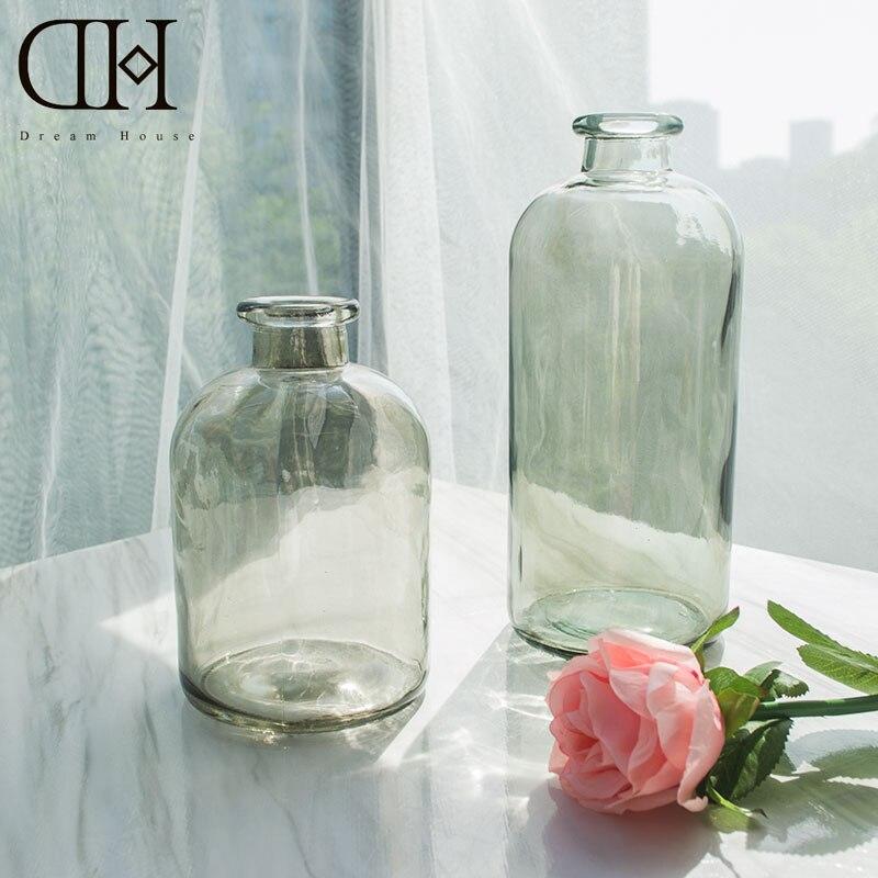 DH Glass Flower Vase Modern Glass Floor Vase For Home Decoration Floral  Glass Bottle Glass Terrarium Wedding Decoration In Vases From Home U0026 Garden  On ...