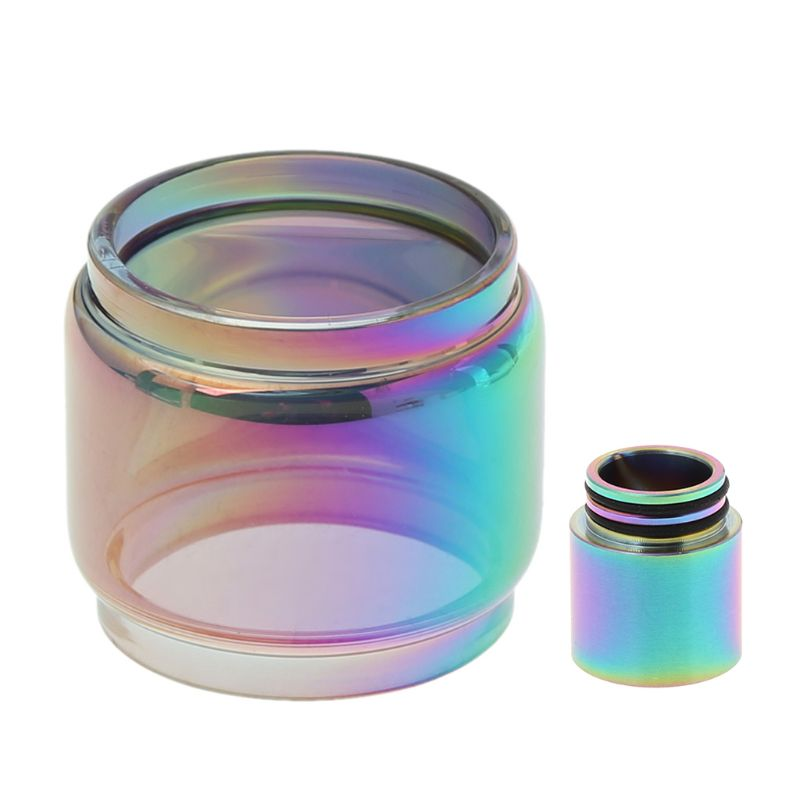 8ml Extended Replacement <font><b>Bulb</b></font> <font><b>Glass</b></font> + Rainbow Drip Tip DIY Atomizer For <font><b>TFV12</b></font> <font><b>Prince</b></font> image