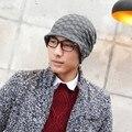New hot male winter wool jacket cap winter warm earmuffs men's knitted hat fashion wholesale