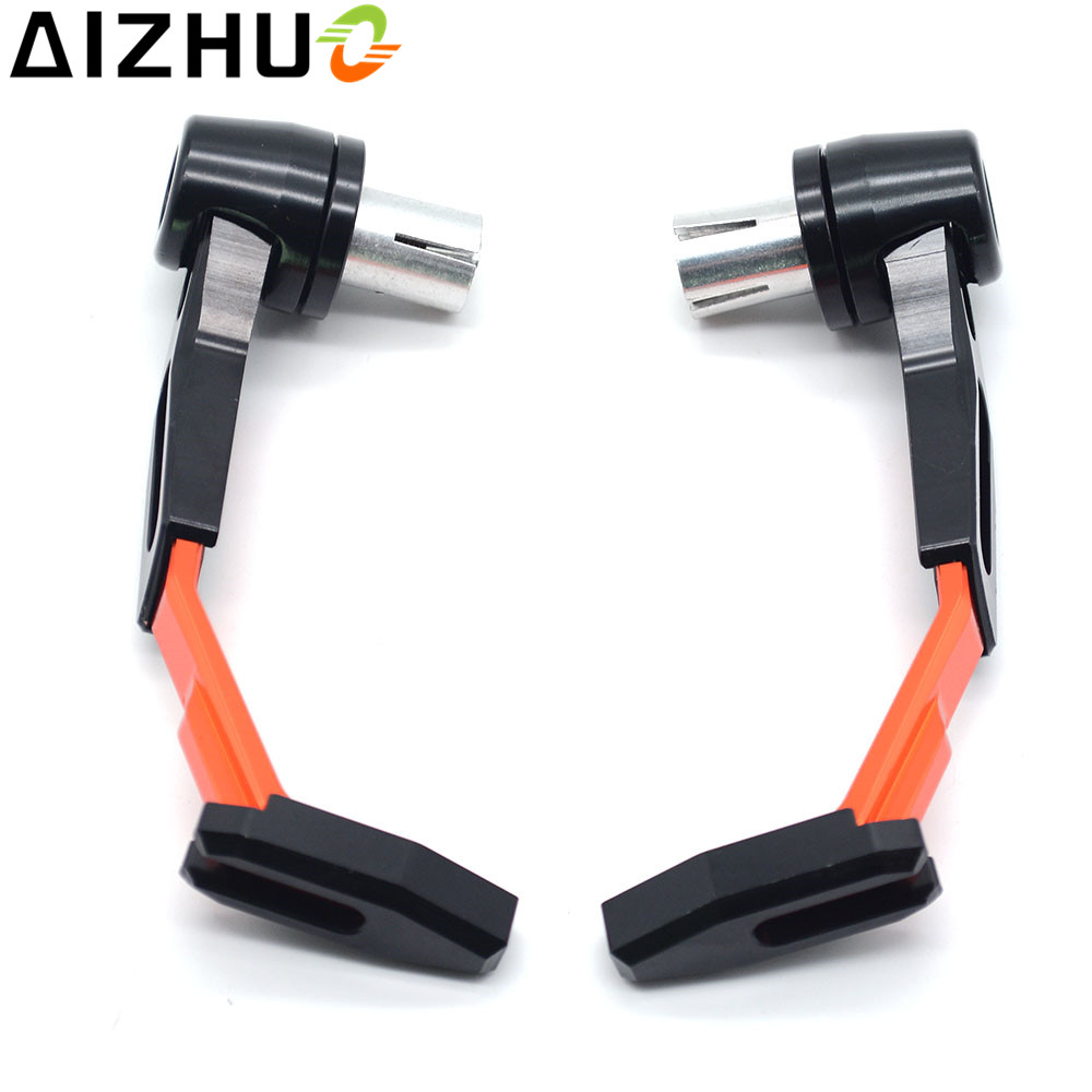 Motorcycle Handguard Brake Clutch Lever Guard CNC Aluminum 7 8 39 39 Handlebar End Lever Guard For Honda Suzuki KTM Kawasaki Benelli in Falling Protection from Automobiles amp Motorcycles