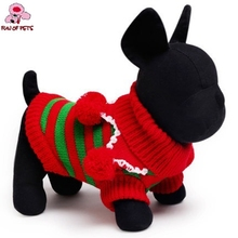 2017 New Festival Stripe Sweaters Christmas Dog Clothes Sweaters for Pets Dog Dogs Clothing