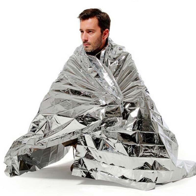 Safurance аварийного Одеяло спальный мешок Сверхлегкий Портативный изоляции Выживание спасения Открытый Отдых серебро Одеяло ...