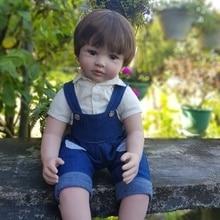 60cm Silicone Vinyl Reborn Baby Boy Doll Toys 24inch Cheap Toddler Babies Doll Kid Birthda