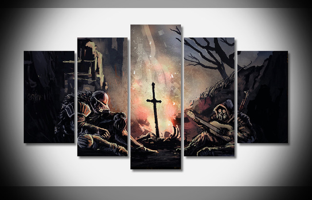 7411 dark souls poster framed gallery wrap art print home wall decor gift wall picture already