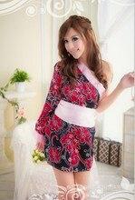 2015 Baby Doll Sexy Lingerie Hot Sex Productos Nuevos ~ Personalidad de Hombro Inclinado Elegante Kimono Cosplay Editar Este Producto