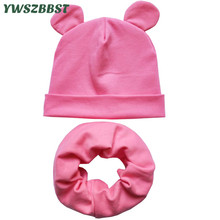 Solid Color Ear Children Hats Autumn Winter Crochet Baby Hat Scarf Girls Boys Cotton Beanies Cap Toddlers Kids Hat Scarf Collars все цены