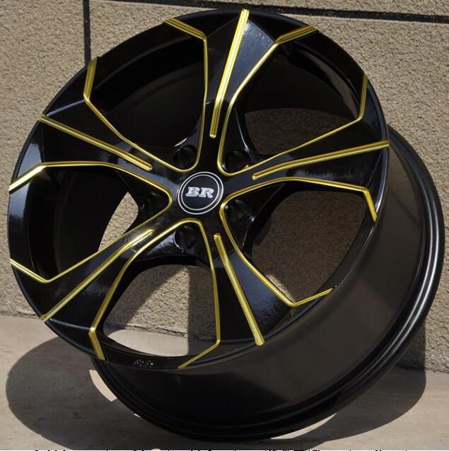 New High Performance Black Gold 18x8 0 5x105 5x108 5x112