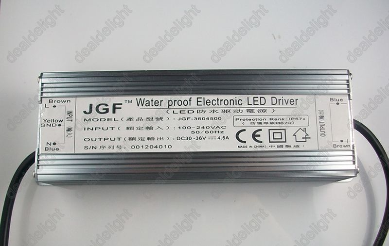 цена на IP67 Waterproof 150W Constant Current LED Driver AC100-250V to DC30-36V 4500mA for 150W High Power LED Light