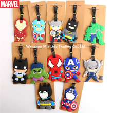 Hasbro Avengers Iron Man Spider-Man  Cartoon silica gel luggage tag hanging consignment brand travel supplies