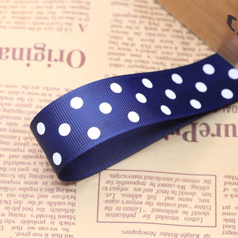 Bán nóng (1 mét) 1 ''(25 mét) polka Dot Satin Ribbon In Handmade TỰ LÀM Đầu Vòng Hoa Tóc Cưới Đảng Quà Tặng Đóng Gói nguồn cung cấp