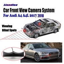 Liandlee для Audi A4 A4L 2017 2018 автомобилей ЖК-дисплей Экран Мониторы 4.3 «/вид спереди Камера логотип Embedded/ авто-прикуриватели переключатель