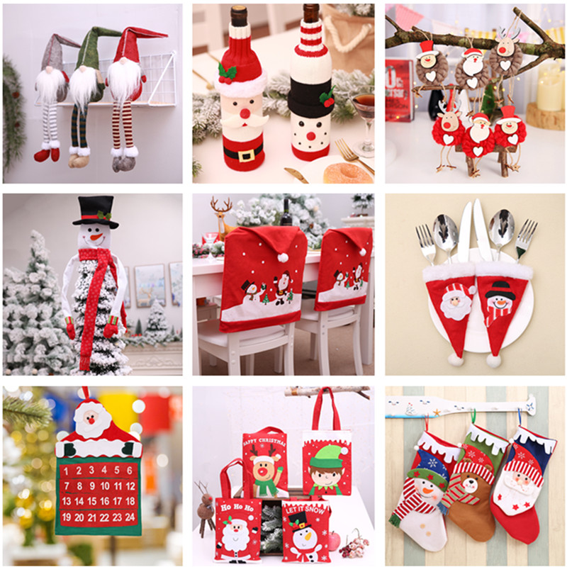 New Year 2020 Christmas Snowflake Wooden Pendant Xmas Tree Decorations for Home Wood Hanging Crafts Navidad 2019 Noel Natal Deco 13