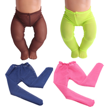 43 cm baby dolls Clothing accessories 6 color silk stockings Baby toys leg pants fit American 18 inch Girl doll f26 american girl dolls gymnastic clothing dance costume fit 18 inch doll american girl doll accessories x 228 drop shipping