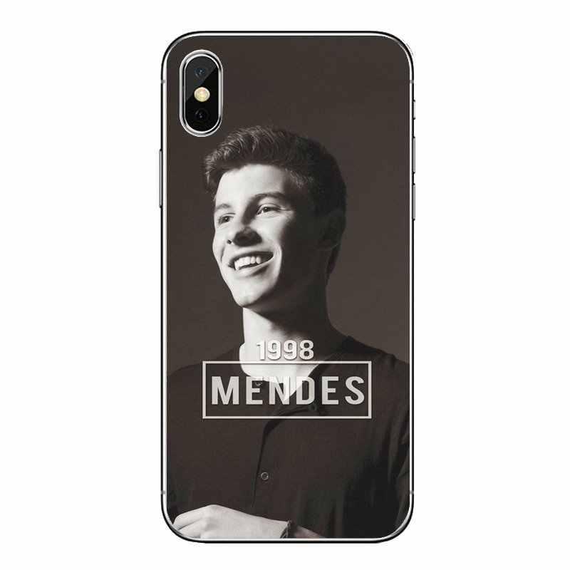 Mendes Shawn 98 Impressão Bonito Transparente Casos Suaves Capas Para iPod Touch iPhone 4 4S 5 5S 5C SE 6 7 6 S 8 X XR XS Mais MAX