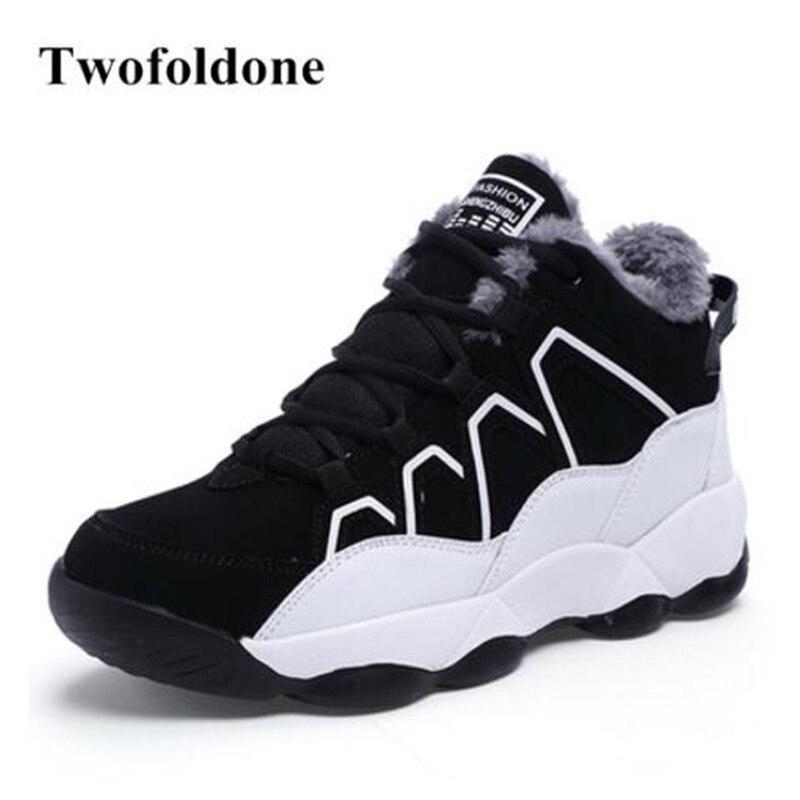 2017 Winter Men Sneakers Running shoes for Women Outdoor Sneakers Platform Sport shoes Girls High Sneakers Warm shoes
