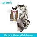 Carter 4 unids bebé niños de Ajuste Cómodo de Algodón PJs 321G180, vendido por carter oficial China tienda