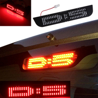 1pcs BOSMAA LED DIY Additional Brake Stop Light Panel Replace T10 W5W Plug Bulb For Mitsubishi Delica D5 Japanese Car