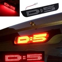 1 pcs BOSMAA DIY LEVOU Painel de Luz De Freio de Parada Adicional Substituir T10 W5W Plugue Lâmpada Para Mitsubishi Delica D5 Japonês carro