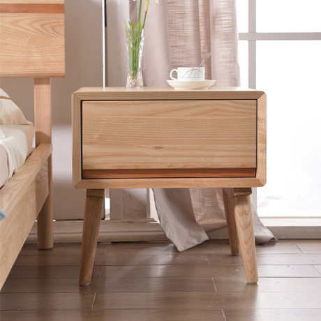Nightstands Bedroom Furniture Home Oak Solid Wood Bedside Table Side Storage Modern Cabinet