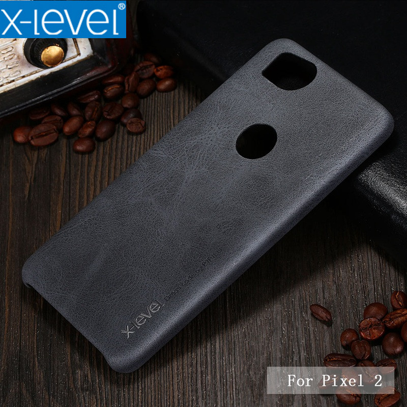 Pixel 2XL X-Level PU Leather Phone Case For Google Pixel 2 Ultra thin Protective Back Cover for Google Pixel 2XL Vingate Case