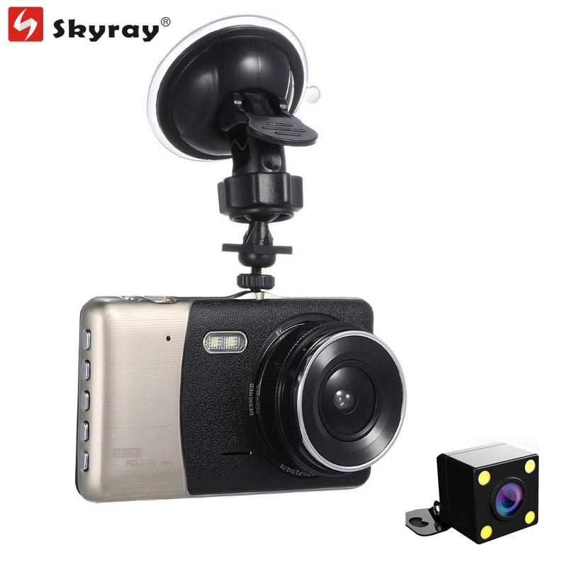 4 Pouce IPS Double Objectif FHD 1080 P Voiture de Vision Nocturne DVR Dash Caméra Conduite Enregistreur Caméscope 170 Degrés avec Parking Vidéo Hotsale