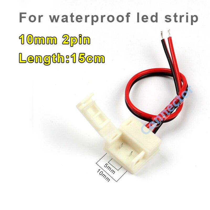 HOT SALE 2017 5pcs/lot <font><b>led</b></font> waterproof strip connector 10mm <font><b>2pin</b></font> for 5050 single color waterproof strip, silicon gel strip use