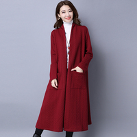 2016 Autumn Winter Fashion Long Sleeve Sweater Women New Long Knitted Female Long Cardigan Women S