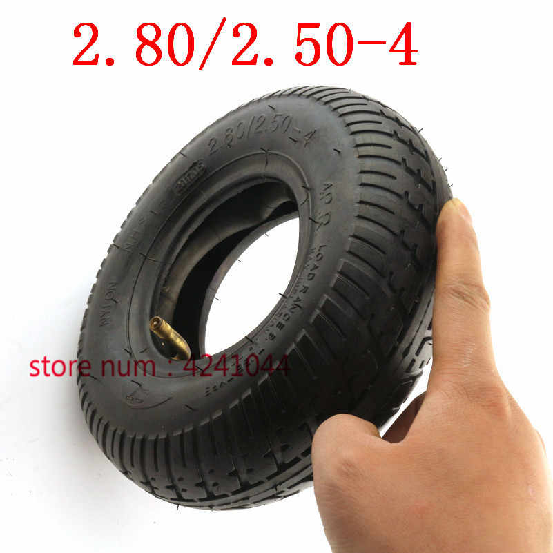Free shipping Tire 2.80/2.50-4 tyre and  Inner Tube  fits Gas / Electric Scooter ATV Elderly Mobility Scooter