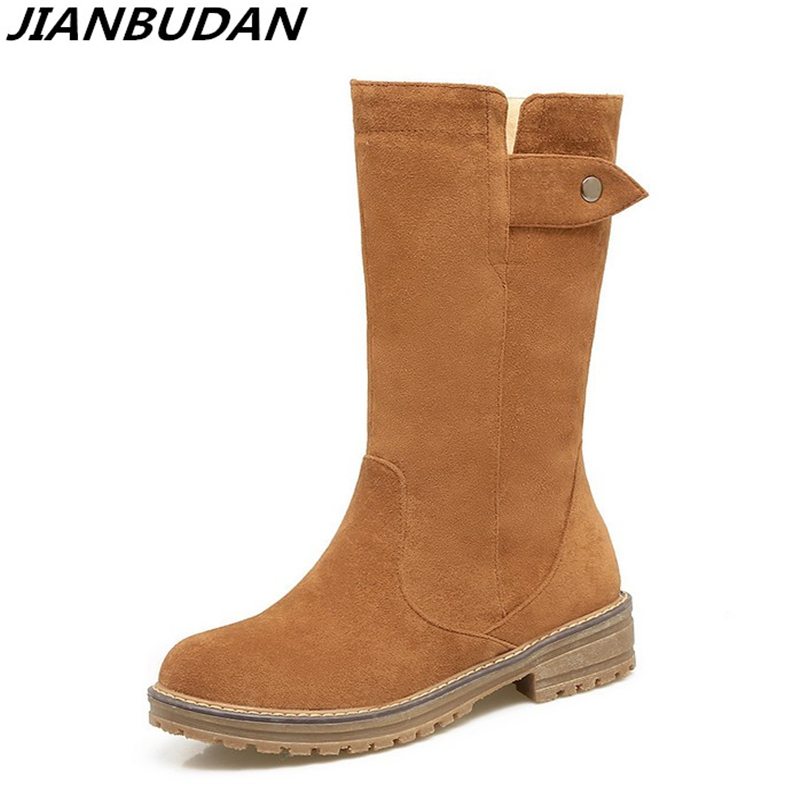 JIANBUDAN Artificial high-quality leather non-slip winter boots matte surface warm cotton shoes women's fashion winter boots 43 jianbudan 2017 new winter high quality cotton shoes men and women indoor warm slippers non slip mute home cotton drag