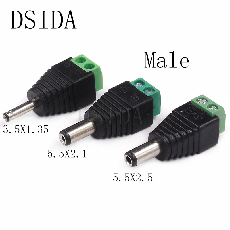3.5x1.35 Male to 5.5x2.1 Female Jack Adapter Barrel Plug DC 12V Power Connector