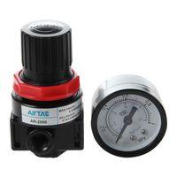 AR Air 2000 Source Treatment Pressure Reducer Black + Red Pressure Regulators     -