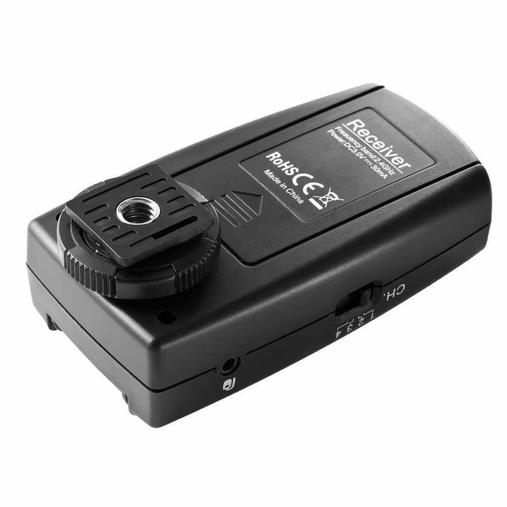 Viltrox FC-240 ワイヤレススタジオストロボフラッシュトリガーカメラリモート + 2 レシーバキヤノン 7D マーク II 6D 5D II III 1D 50D 40D デジタル一眼レフ