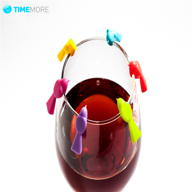 6 pcs set wine glass marker bird label party cup wedding tableware ebay. Black Bedroom Furniture Sets. Home Design Ideas
