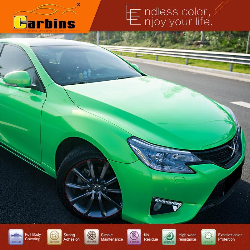 Carbins Film exclusif cristal vinyle Auto emballage de voiture autocollants graphiques lac vert rouleau
