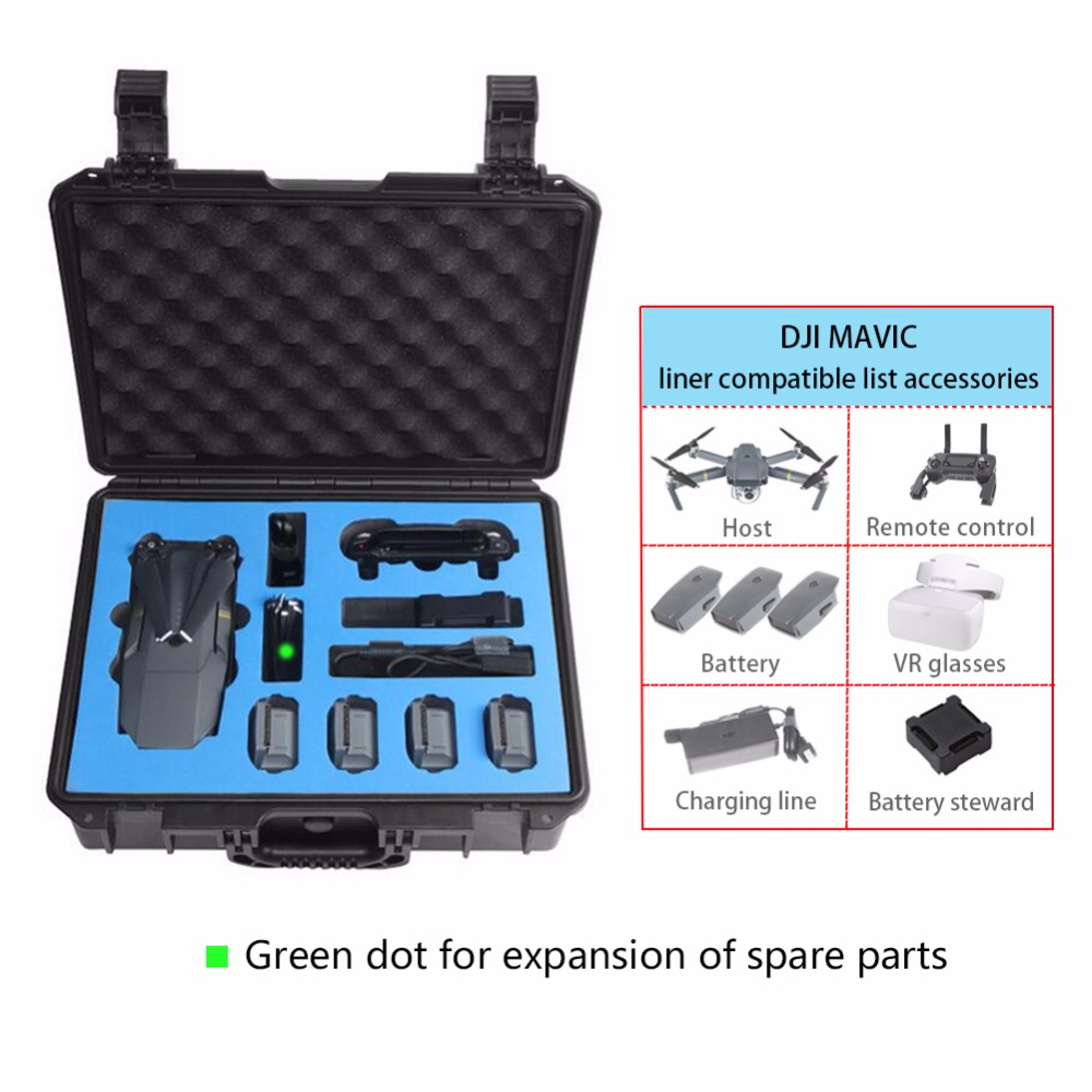 Mavic Waterproof Transport Case Hard Shell Box Case Carry Case Storage Bag Shockproof Box for DJI Mavic Drone Accessories
