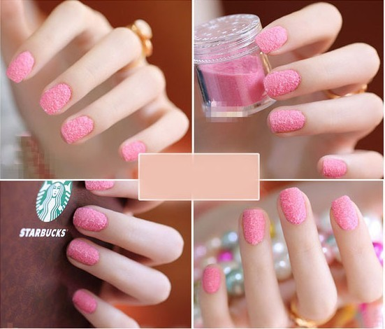 Latest DIY nail art velvet a velvet powder velvet nail polish 24 ...