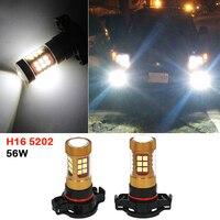 2x H16 5202 56W White LED Car Fog Lamp Bulb LED Driving Light DRL Daytime Running