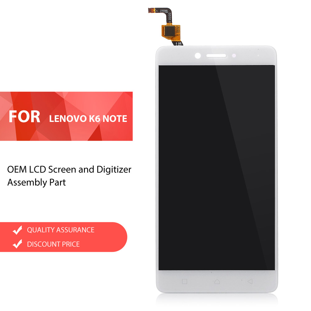 Dulcii for Lenovo K 6 Note OEM LCD Screen and Digitizer Assembly Replacement Part for Lenovo K6 Note LCD Screen LCDs Black