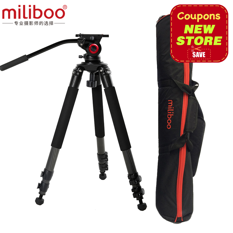 miliboo MTT701B Carbon Fiber Professional Flexible Tripod for Camera/ Digital Camcorder Stand