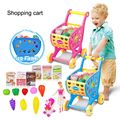 Simulation of supermarket shopping cart trolleys toys children's toy car Classic toy Cart toy Simulation fruits and vegetables