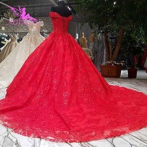 Image 4 - AIJINGYU Hochzeit Empfang Kleid Fett Größe Sexy Designer Dubai Strass Perle Kleid Bodenlangen Braut Tragen Kleider