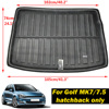 For VW Golf   GTI  R Mk7 Hatchback 2013 2014 2015 2016 2017 2018 Rear Trunk Cargo Mat Tray Boot Liner Floor Carpet Protector Pad discount